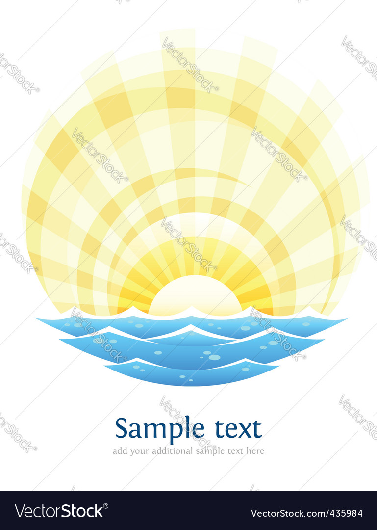 Landscape with sea vector | Price: 1 Credit (USD $1)