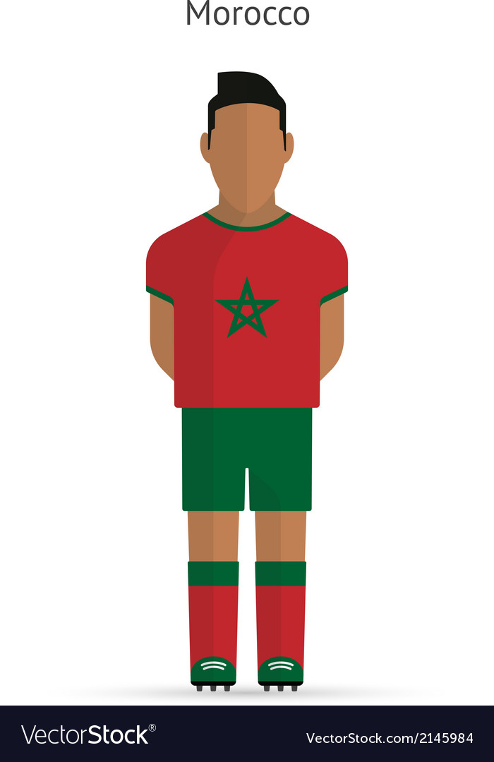 Morocco football player soccer uniform vector | Price: 1 Credit (USD $1)