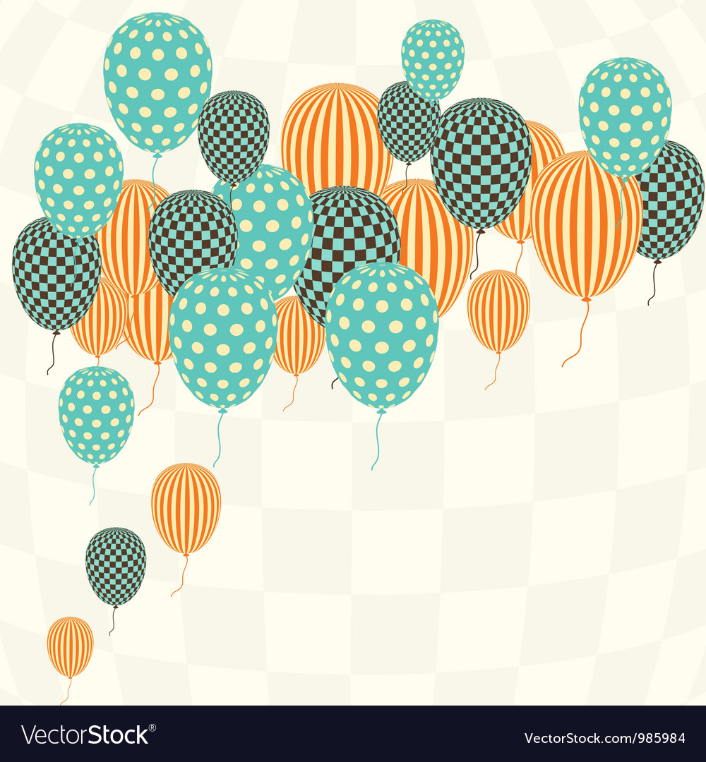 Retro pattern balloons vector | Price: 1 Credit (USD $1)