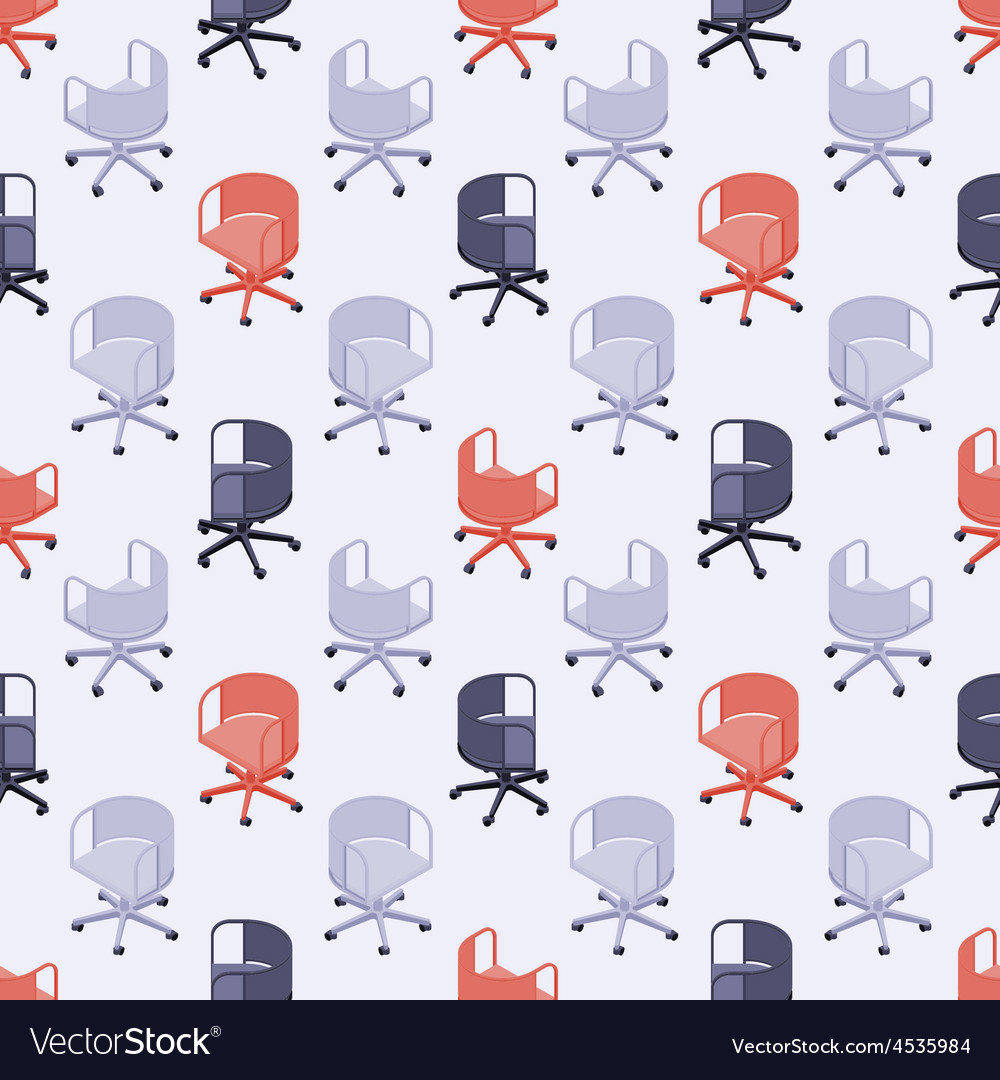 Seamless pattern with colored office chairs vector | Price: 1 Credit (USD $1)