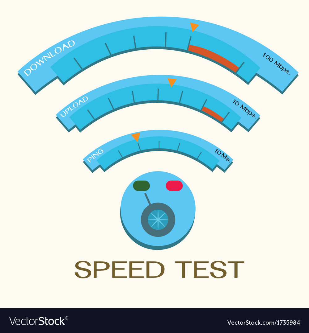Speed internet test wifi vector | Price: 1 Credit (USD $1)