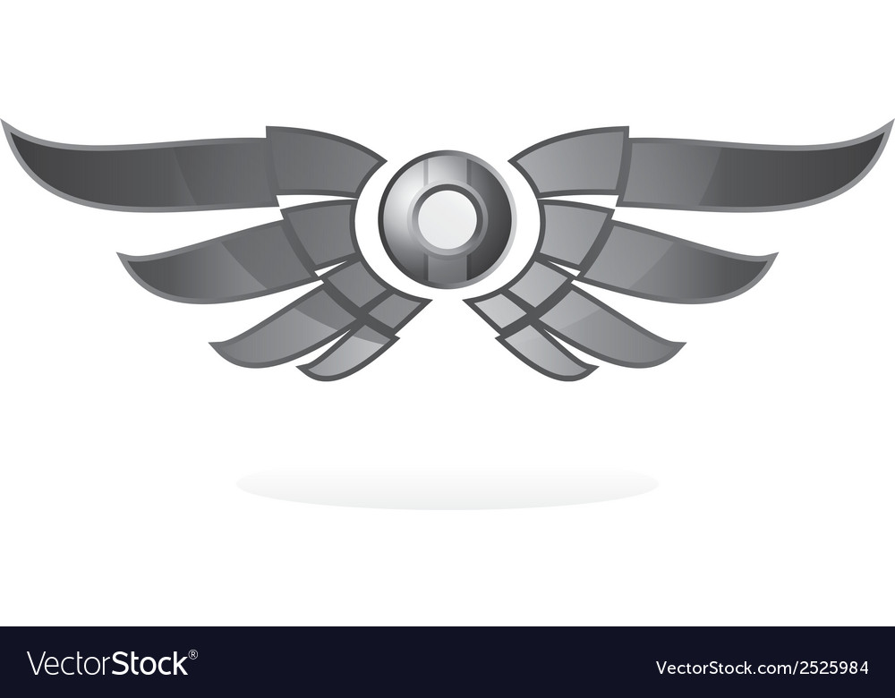 Winged emblem vector | Price: 1 Credit (USD $1)