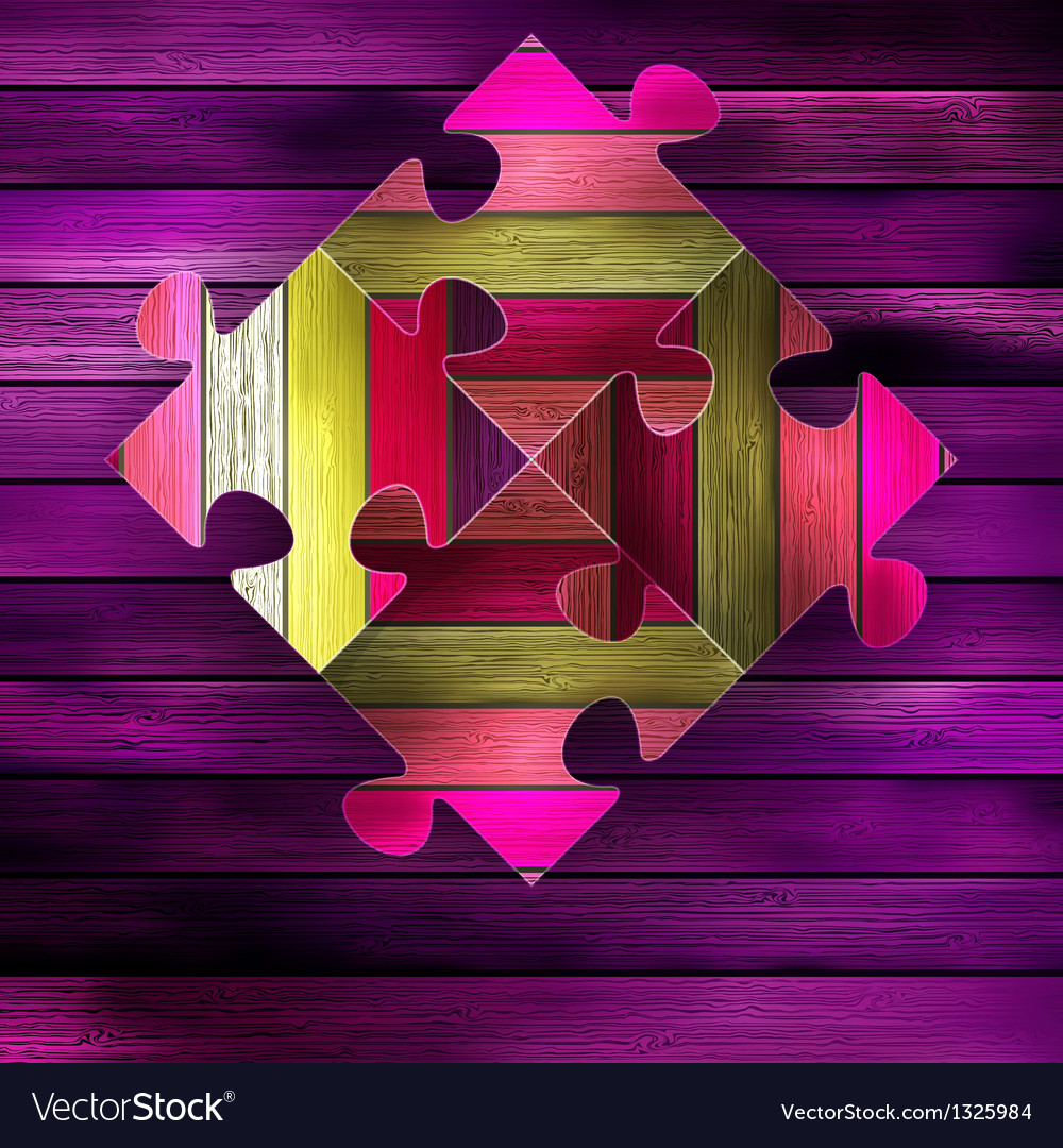Wooden color puzzle background  eps10 vector | Price: 1 Credit (USD $1)