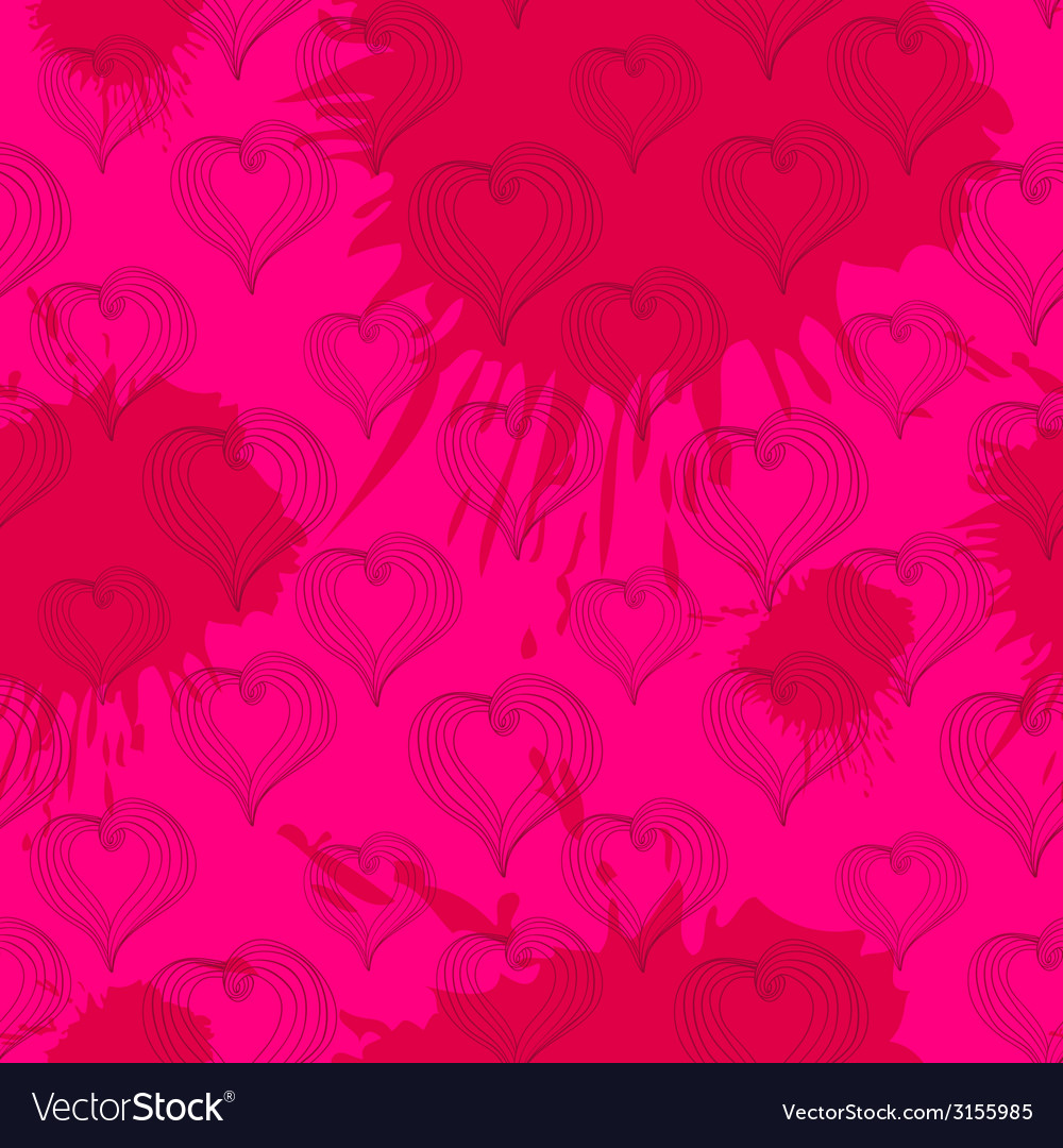 Abstract hearts on a crimson background vector | Price: 1 Credit (USD $1)