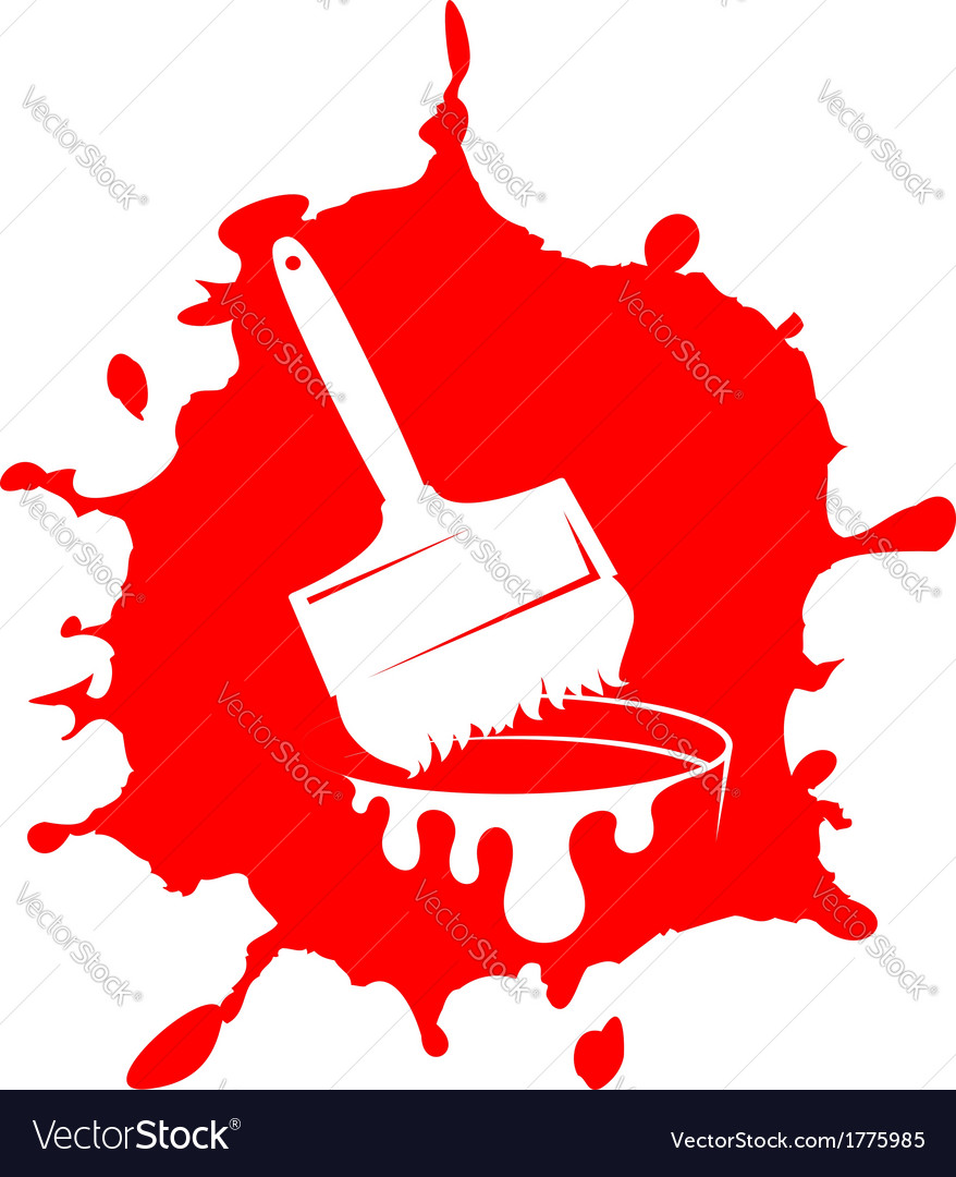 Brush and paint stain vector | Price: 1 Credit (USD $1)