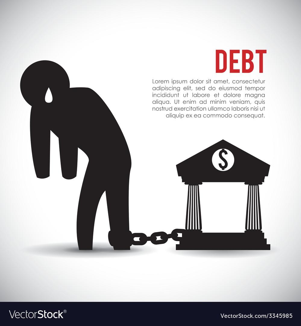 Debt design vector   Price: 1 Credit (USD $1)