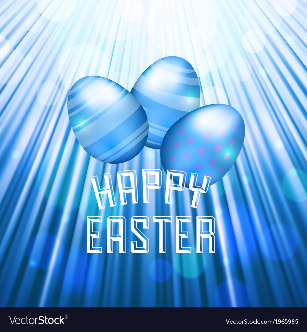 Easter background rays blue vector | Price: 1 Credit (USD $1)