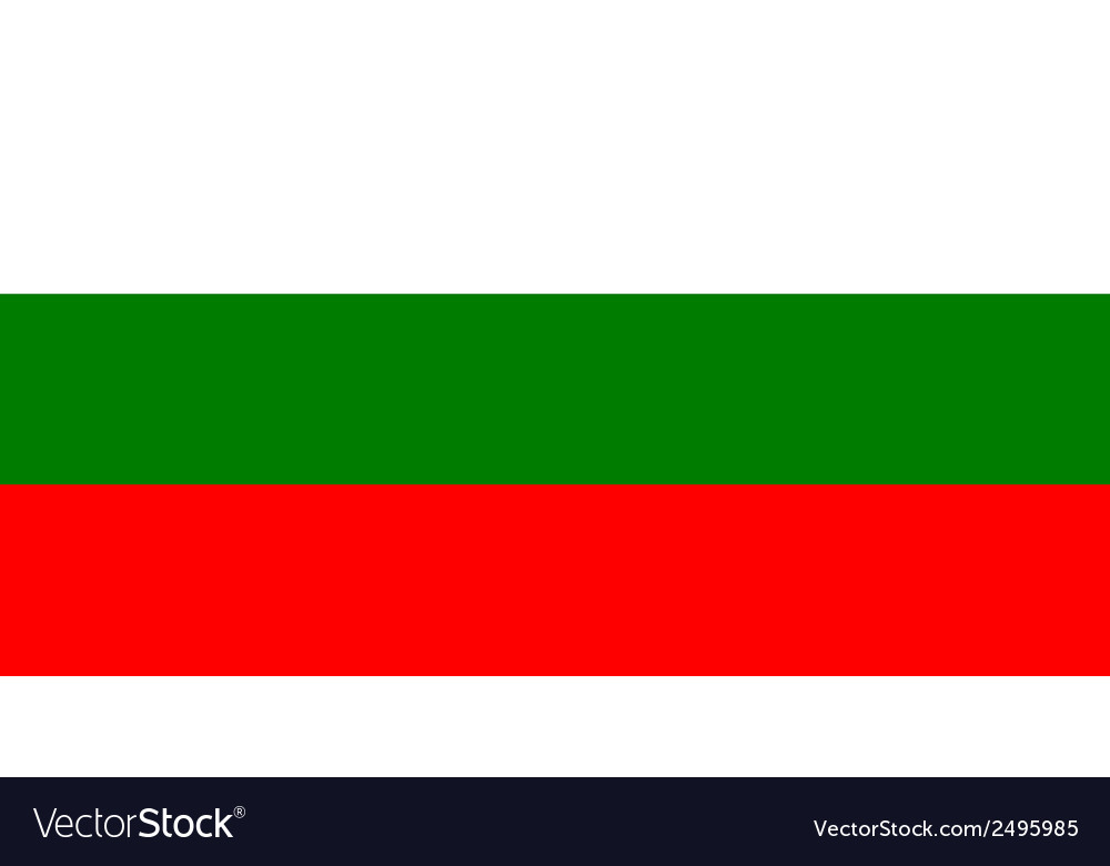 Flag of bulgaria vector | Price: 1 Credit (USD $1)