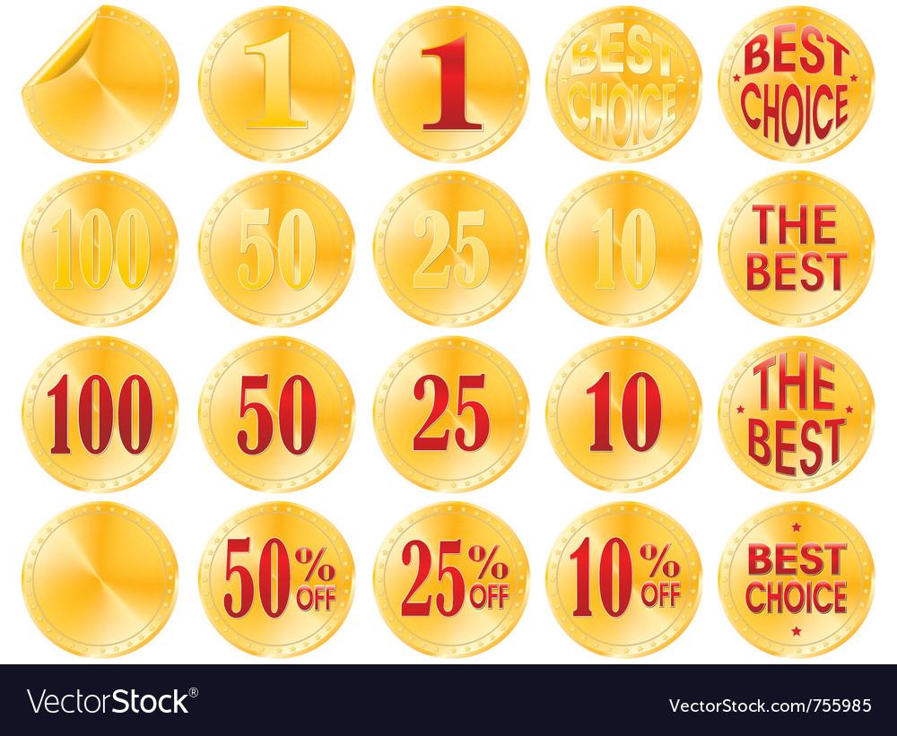 Golden awards vector | Price: 1 Credit (USD $1)