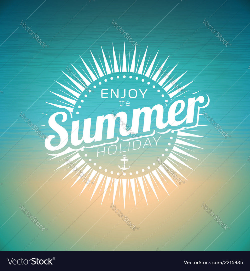 On a summer holiday theme vector | Price: 1 Credit (USD $1)