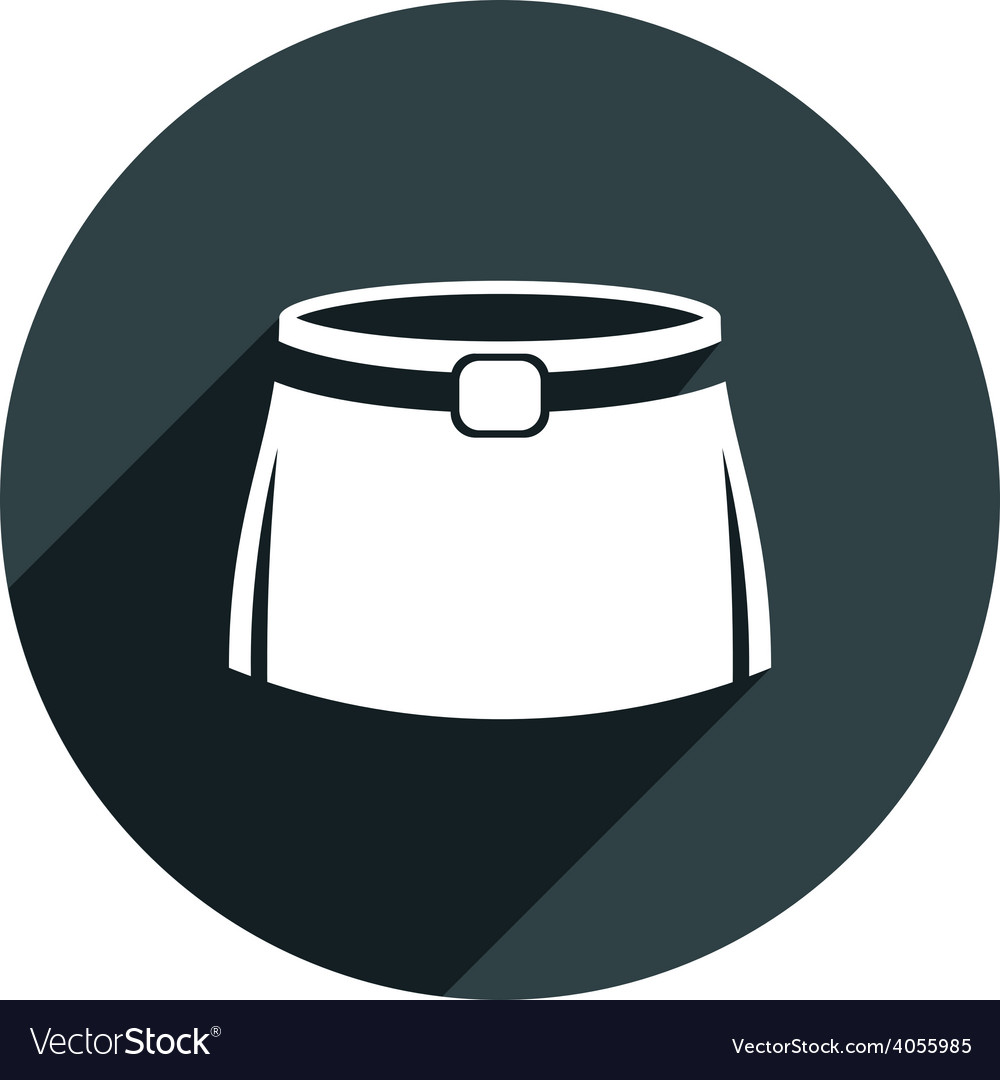 Skirt icon isolated vector | Price: 1 Credit (USD $1)