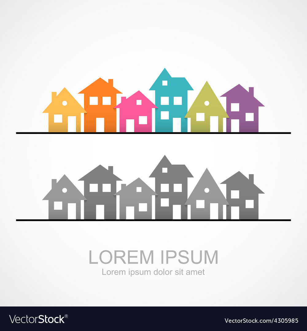 Suburban homes icon vector | Price: 1 Credit (USD $1)