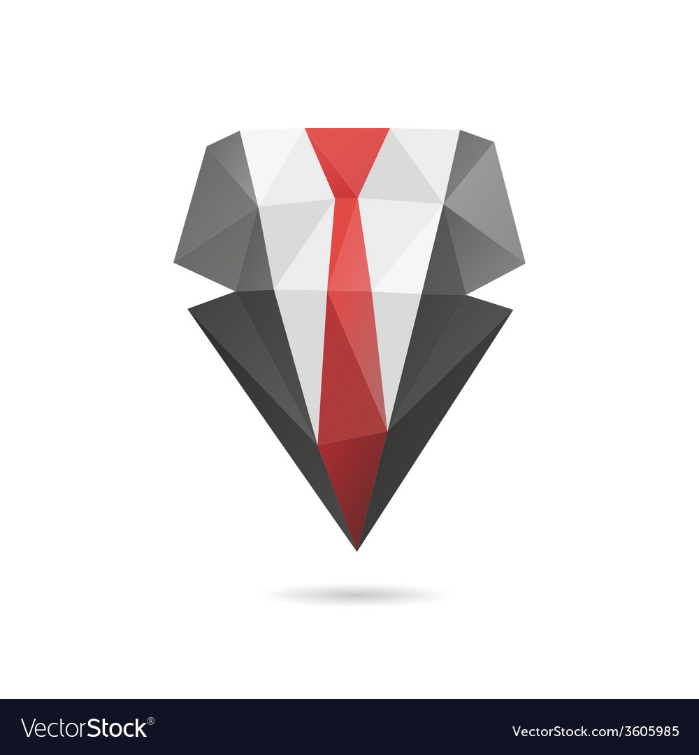 Suit with tie abstract vector | Price: 1 Credit (USD $1)