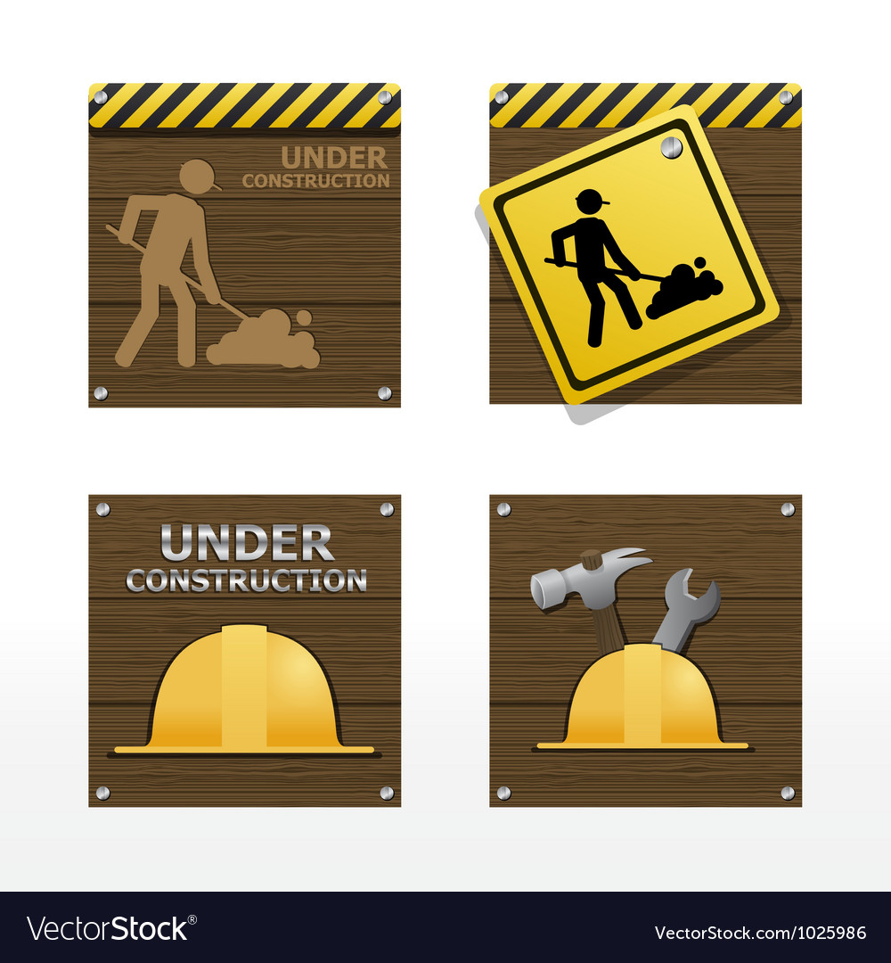 Beware traffic sign on wood background vector | Price: 1 Credit (USD $1)