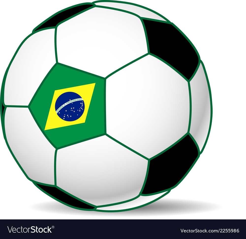 Brazil soccer ball vector | Price: 1 Credit (USD $1)