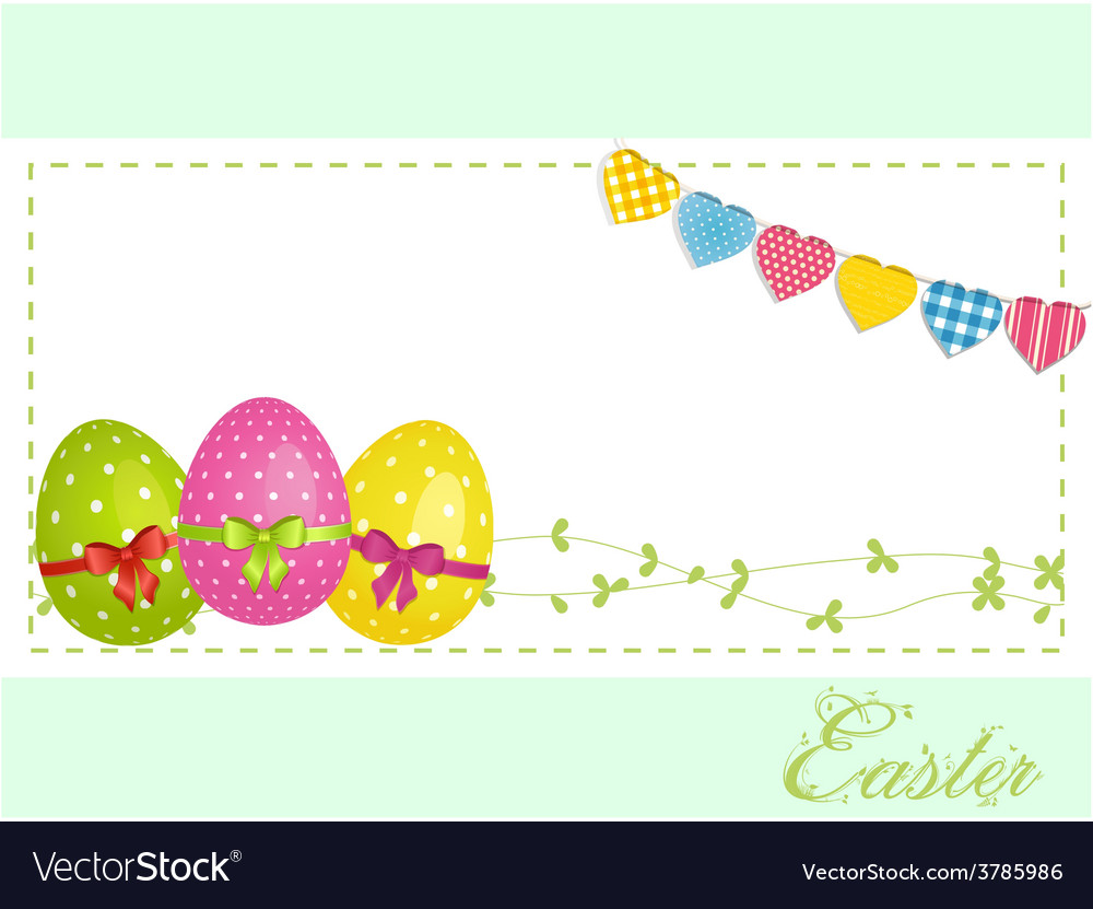 Easter eggs background panel and bunting vector | Price: 1 Credit (USD $1)