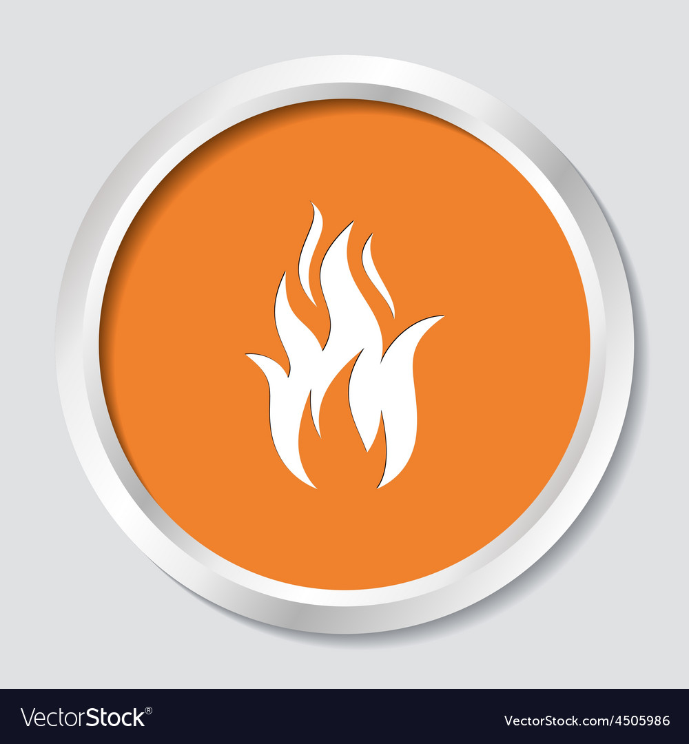 Fire warning symbol vector | Price: 1 Credit (USD $1)