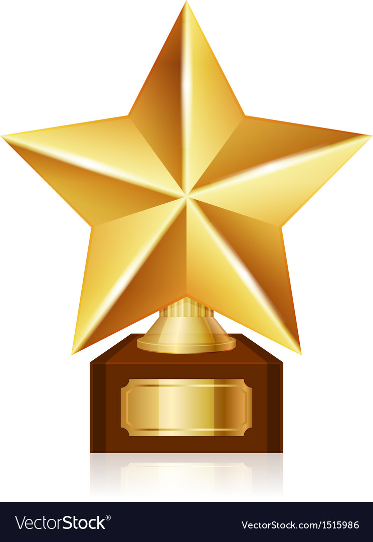 Gold star award vector | Price: 1 Credit (USD $1)