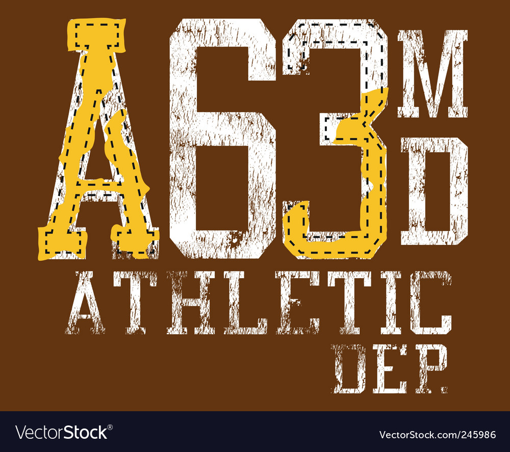 Grunge athletic sports print vector | Price: 1 Credit (USD $1)