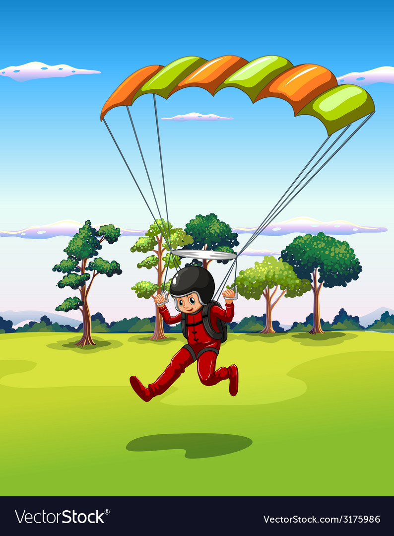 Hang gliding vector | Price: 3 Credit (USD $3)