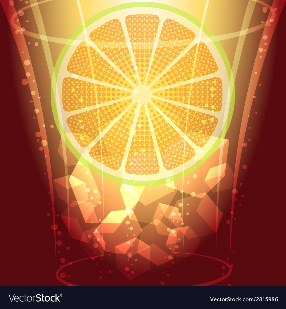 Ice cubes and lemon slice vector | Price: 1 Credit (USD $1)
