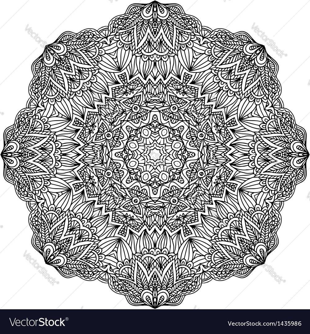 Lacy ornate black napkin vector | Price: 1 Credit (USD $1)