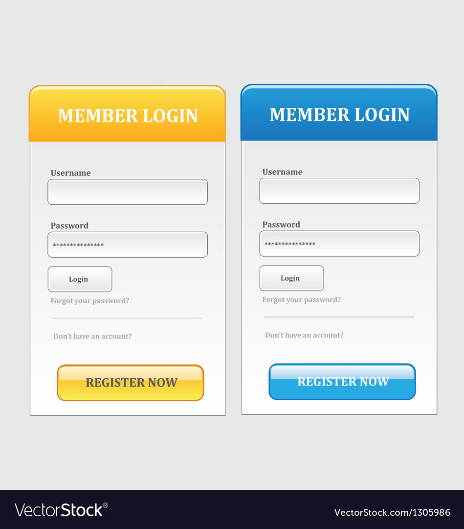 Log in form vector | Price: 1 Credit (USD $1)