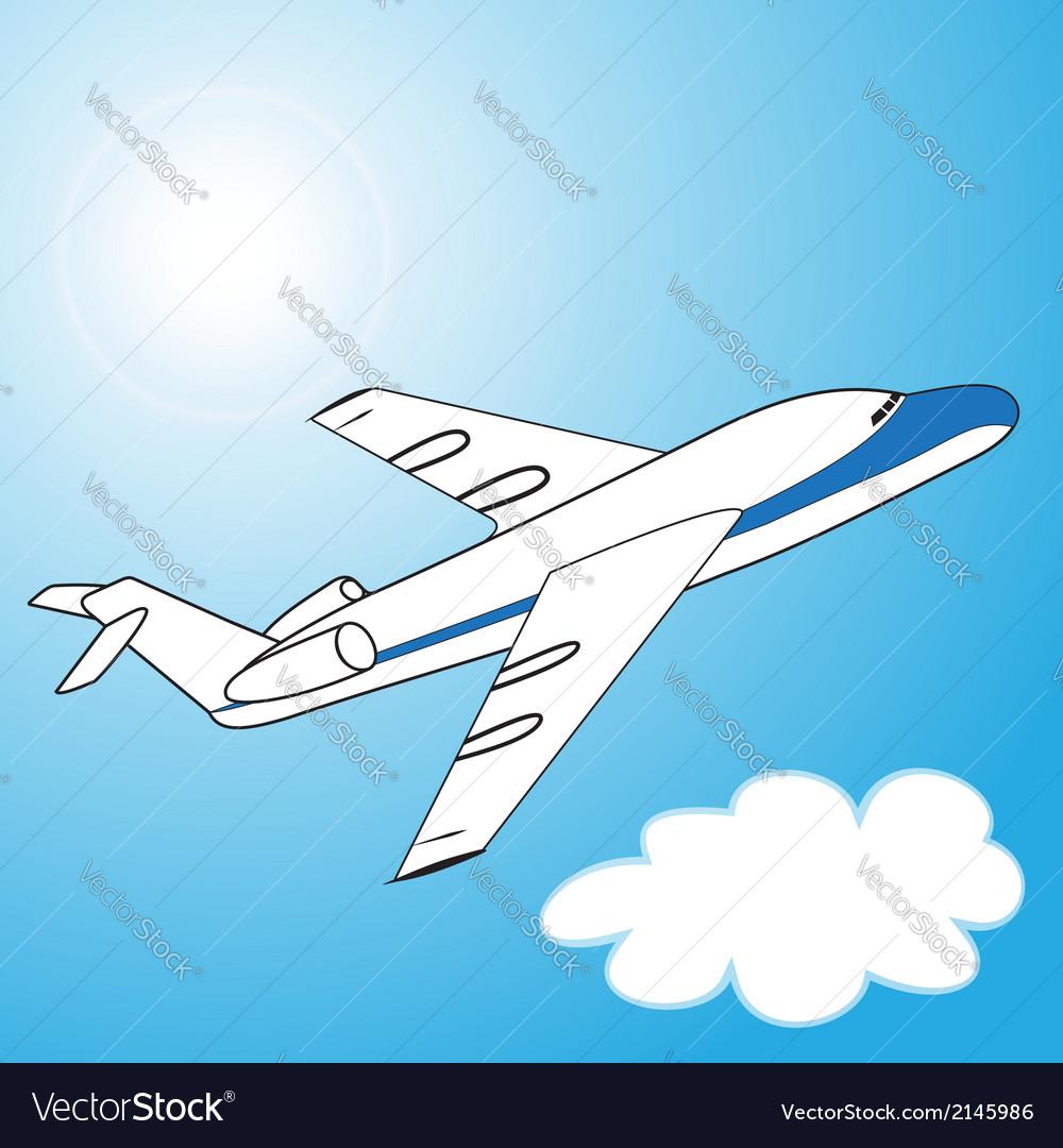 The plane vector   Price: 1 Credit (USD $1)