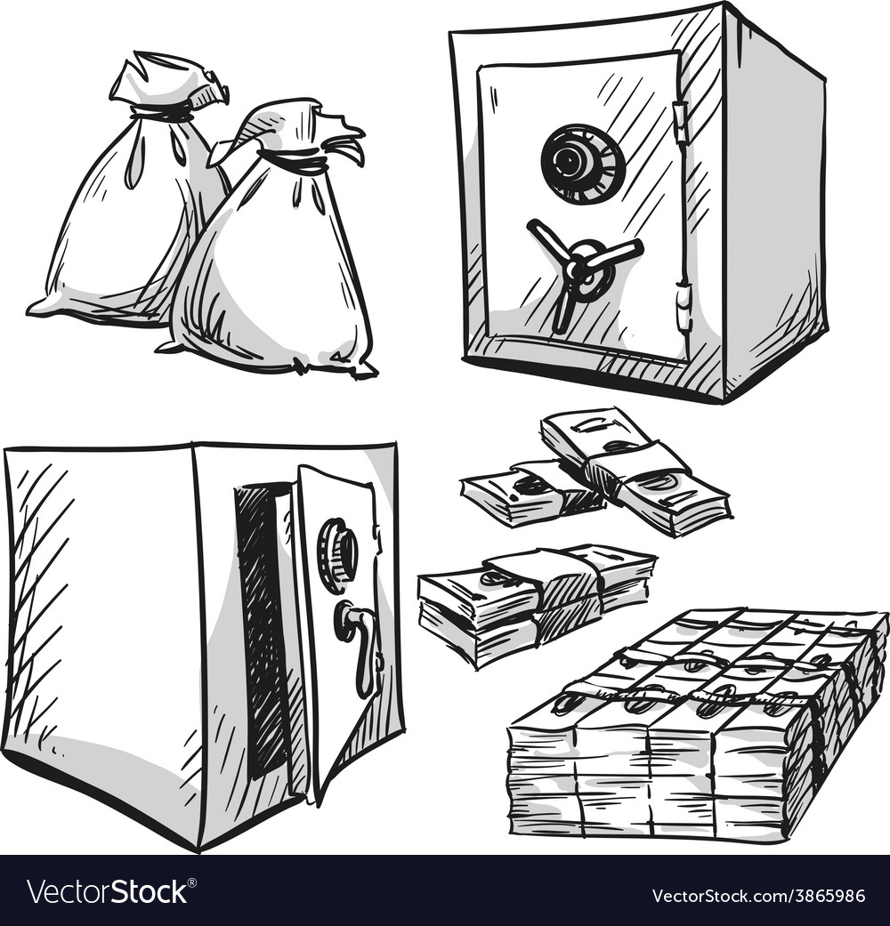 Safes drawings vector   Price: 1 Credit (USD $1)