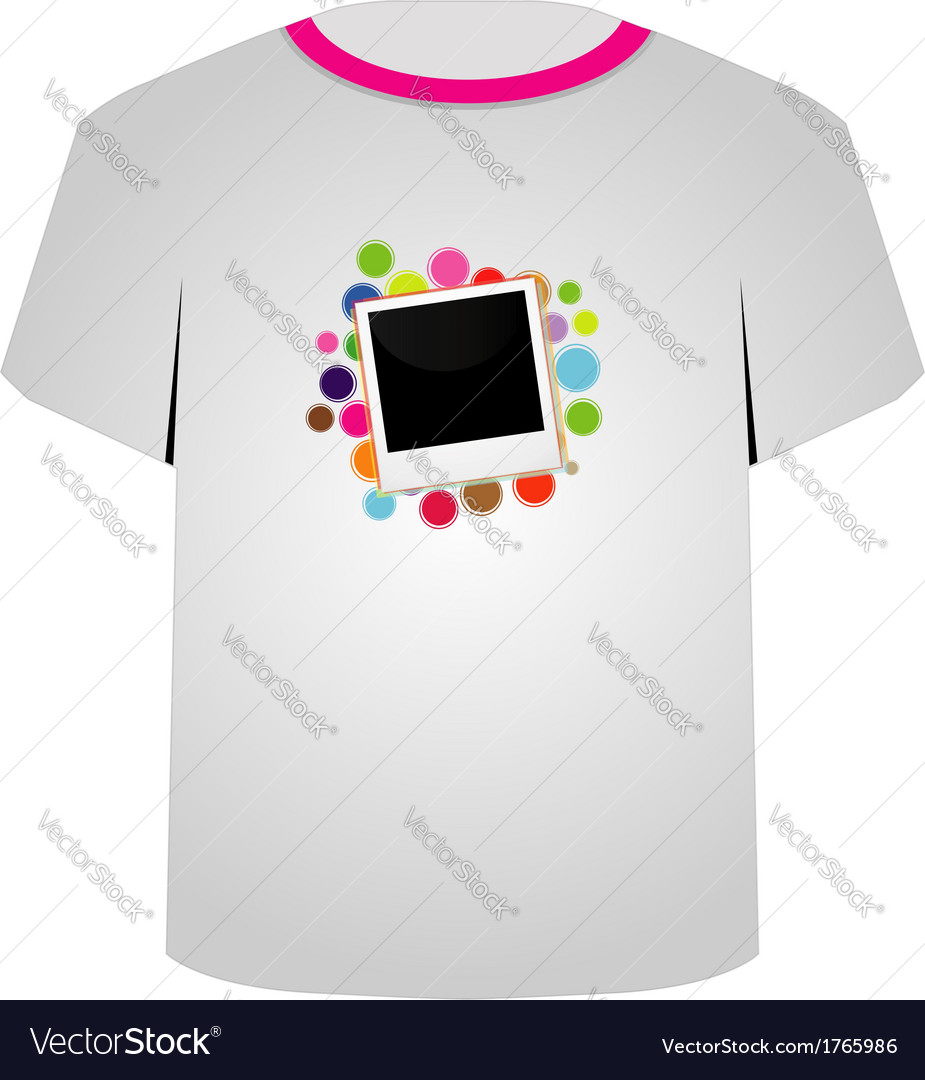 T shirt template- polaroid vector | Price: 1 Credit (USD $1)
