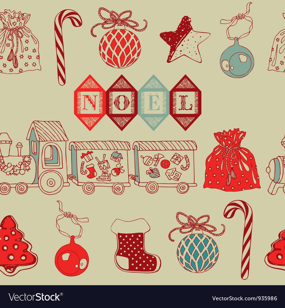 Vintage christmas noel background vector | Price: 1 Credit (USD $1)