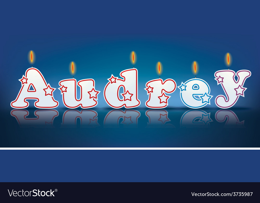 Audrey written with burning candles vector | Price: 1 Credit (USD $1)
