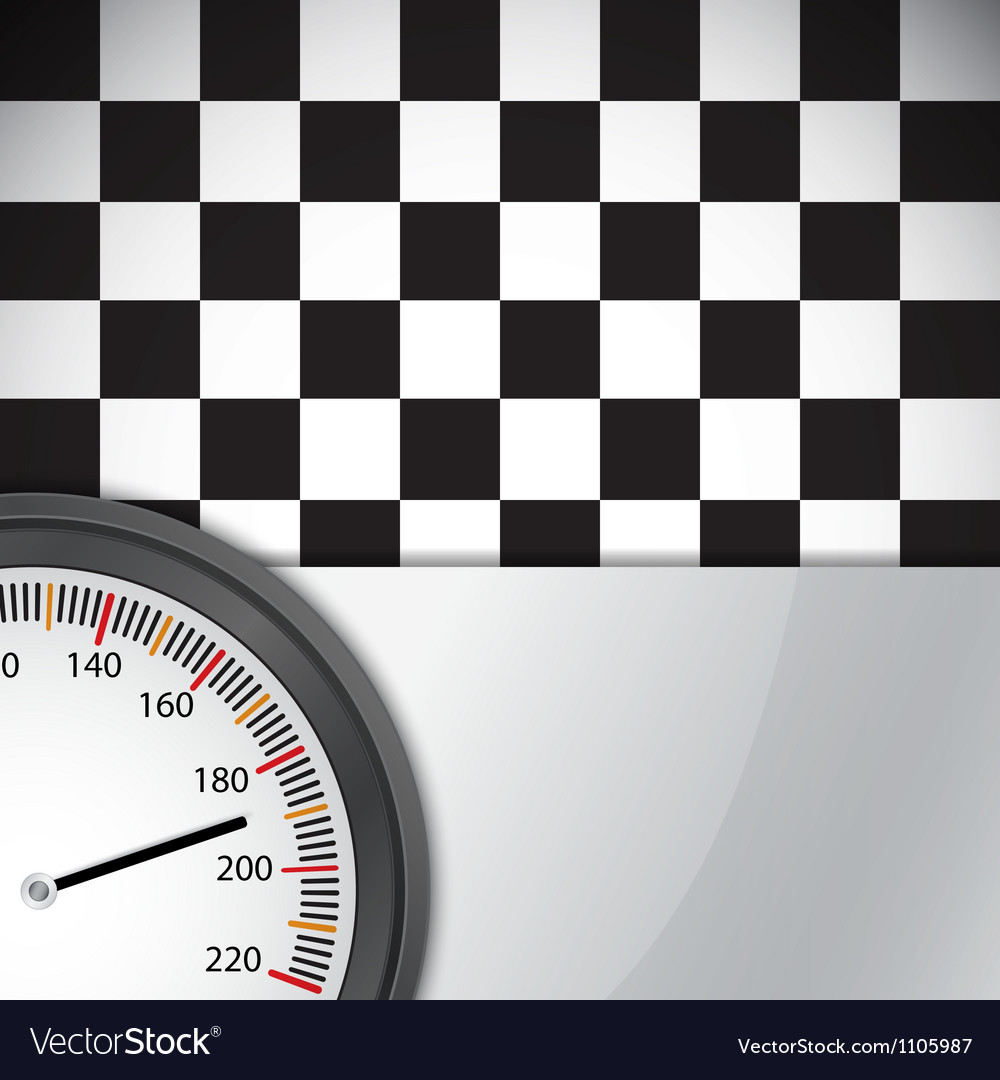 Checkered flag with metal frame vector | Price: 1 Credit (USD $1)