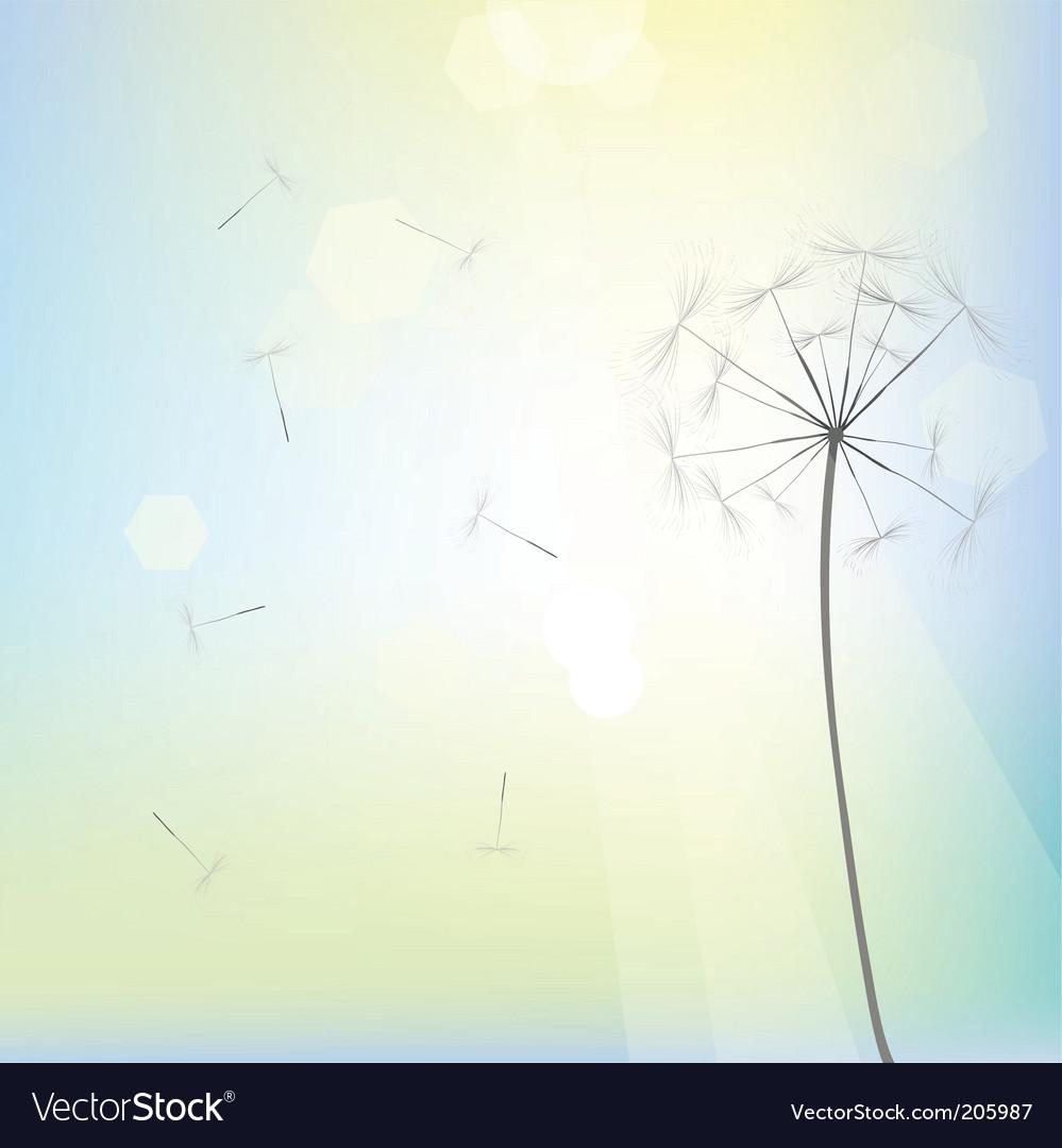 Dandelion design vector | Price: 1 Credit (USD $1)
