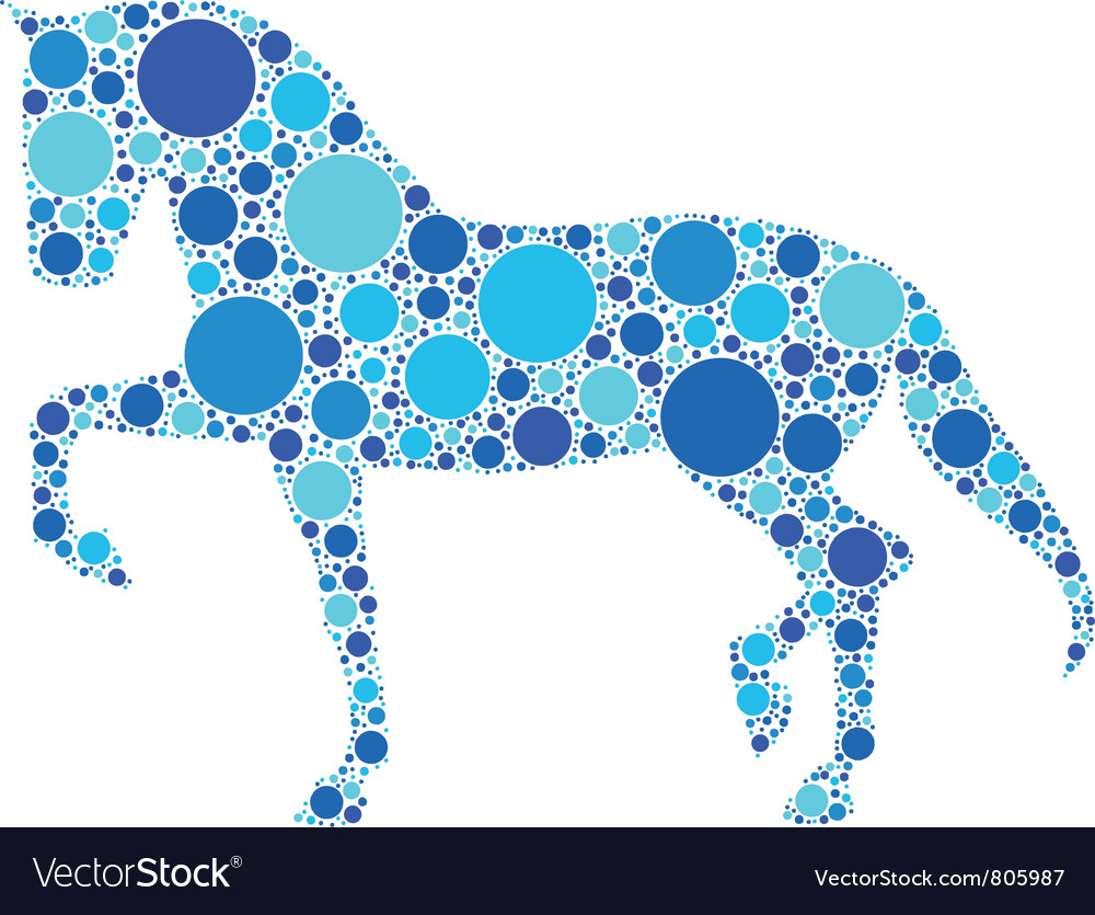 Dotted horse vector | Price: 1 Credit (USD $1)