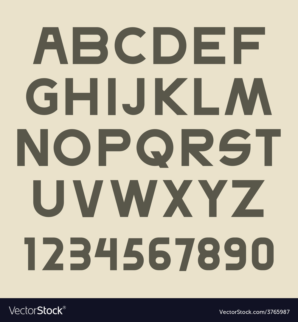 Font set vector | Price: 1 Credit (USD $1)