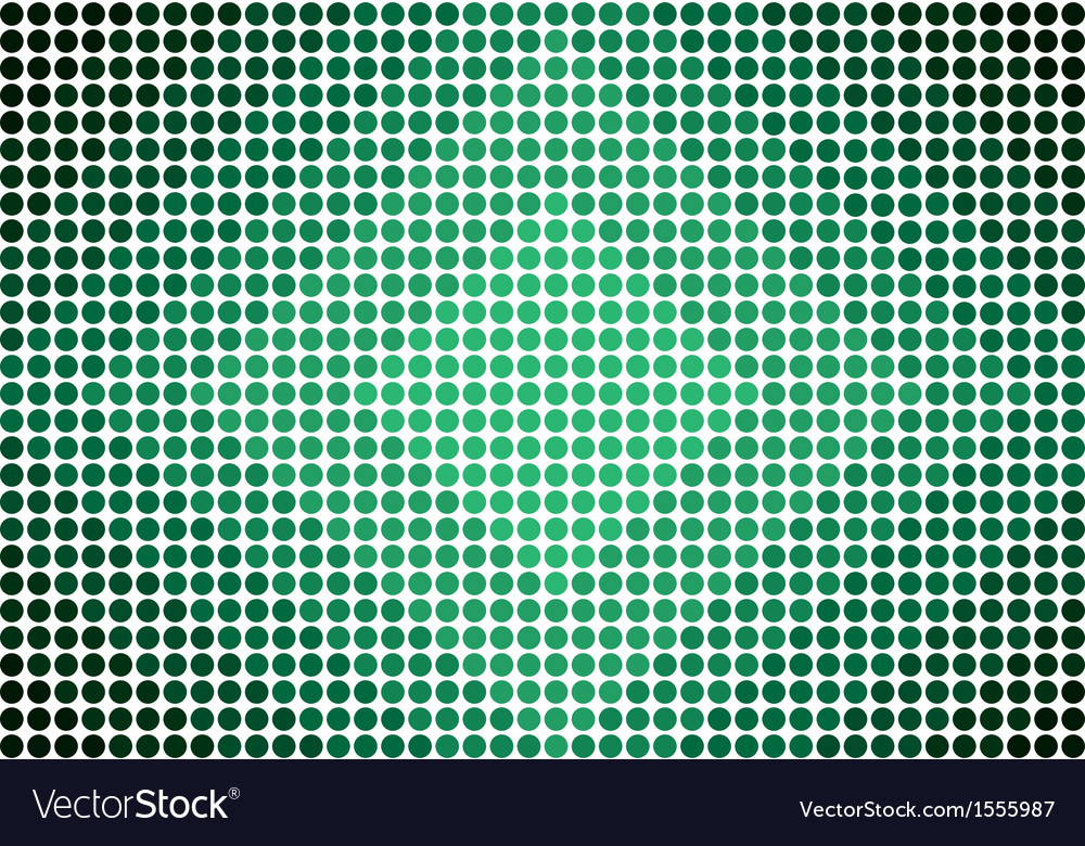 Green gradient dots diamond pattern background vector | Price: 1 Credit (USD $1)