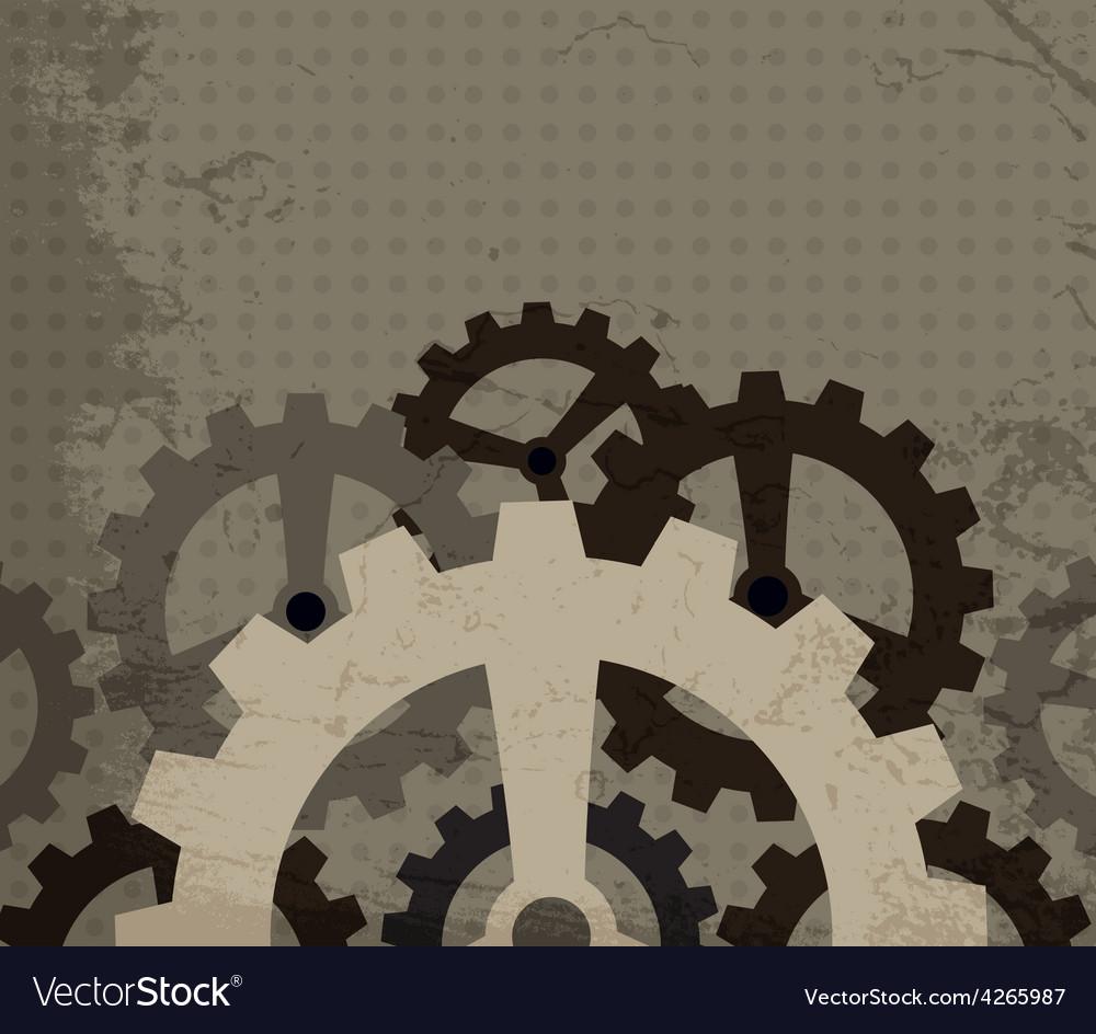Grunge cogwheel background vector | Price: 1 Credit (USD $1)
