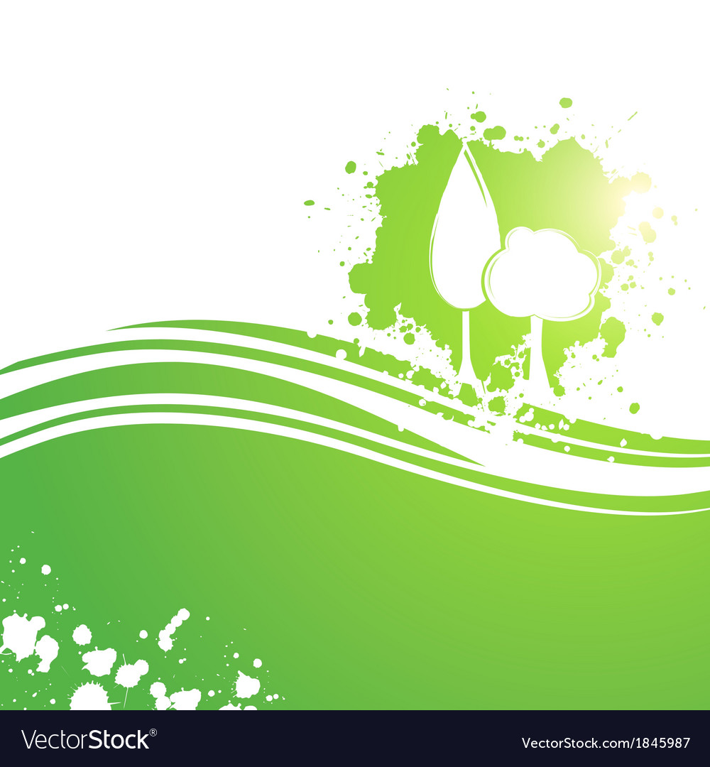 Landscaping eco tree background vector | Price: 1 Credit (USD $1)
