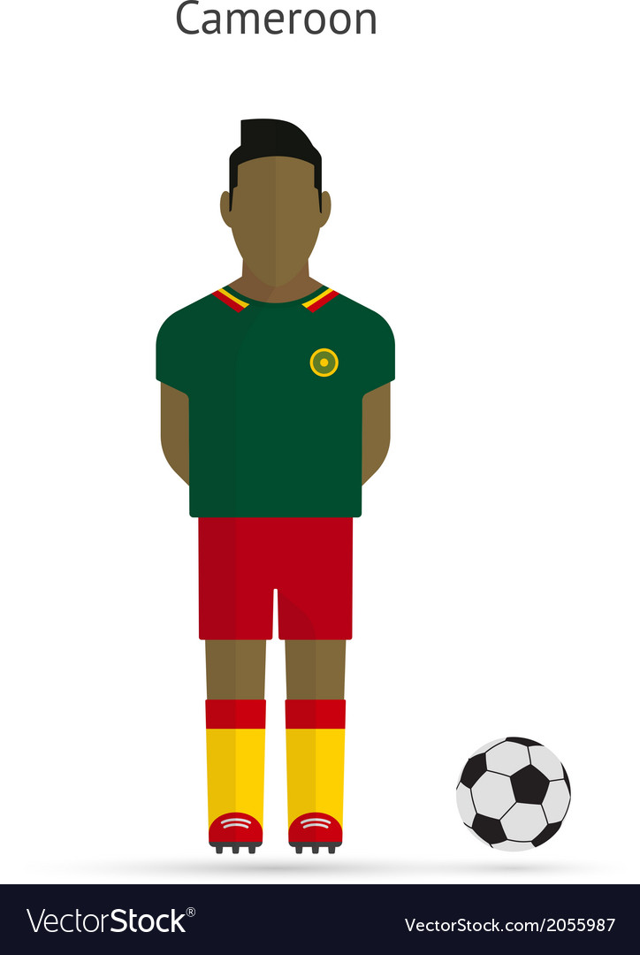 National football player cameroon soccer team vector   Price: 1 Credit (USD $1)