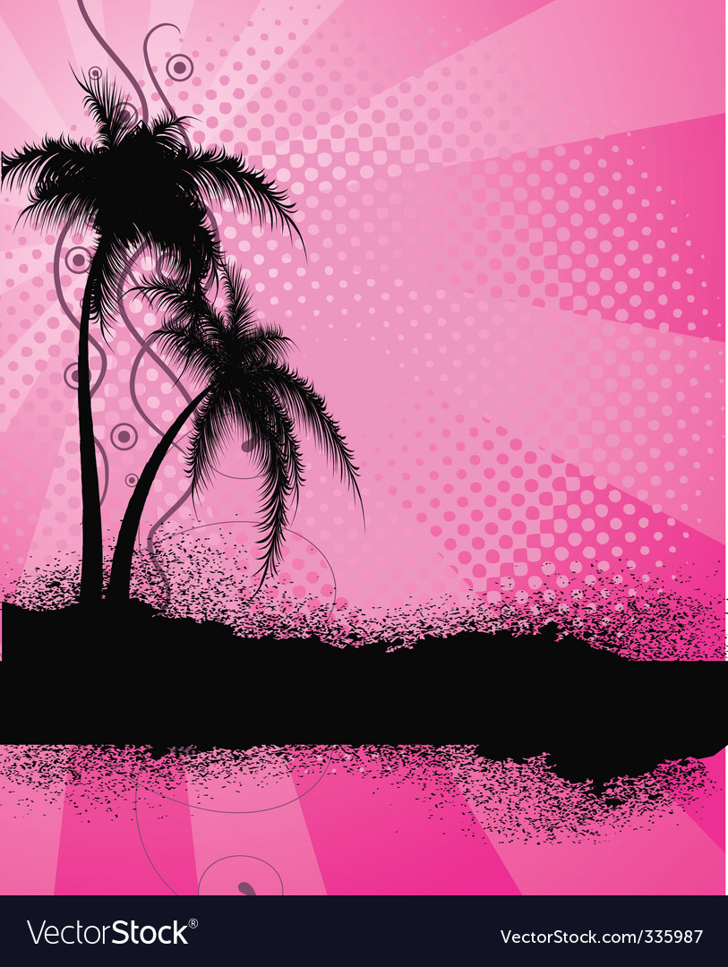 Palm trees silhouette vector | Price: 1 Credit (USD $1)