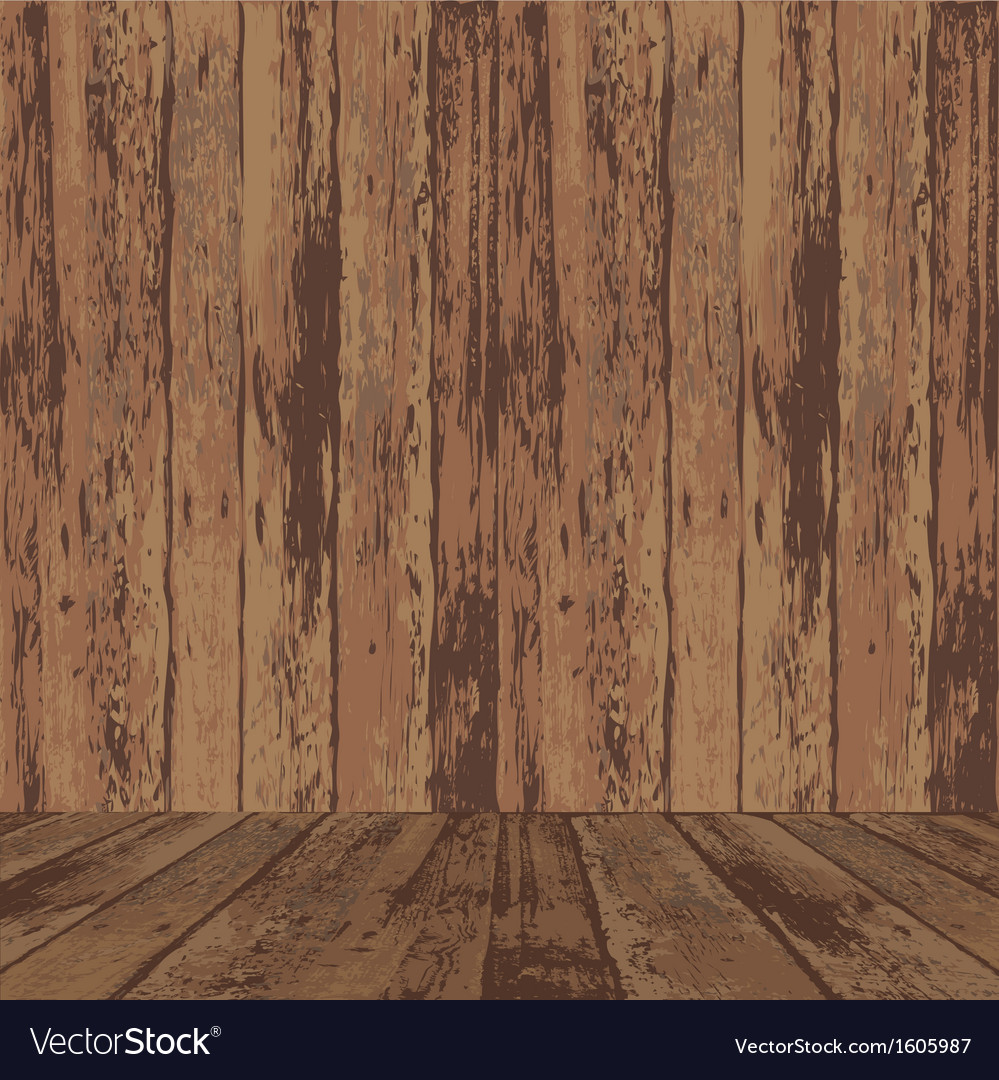 Wood wall and floor vector | Price: 1 Credit (USD $1)