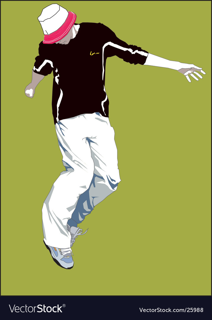 Boy jumping vector | Price: 3 Credit (USD $3)