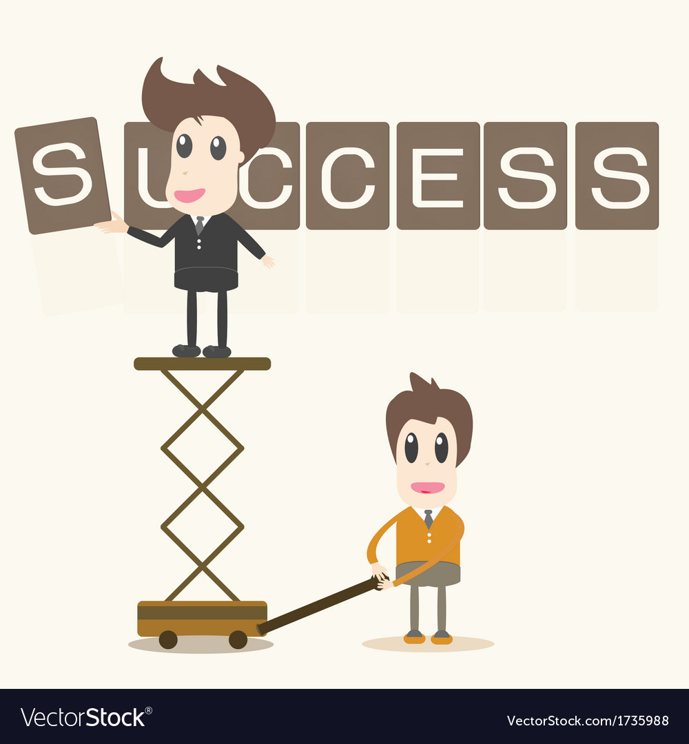 Businessman success assembly vector | Price: 1 Credit (USD $1)