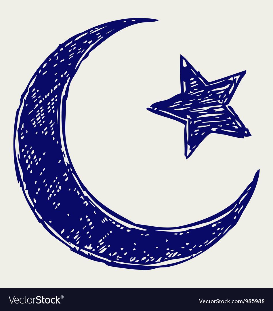 Crescent islamic symbol vector   Price: 1 Credit (USD $1)