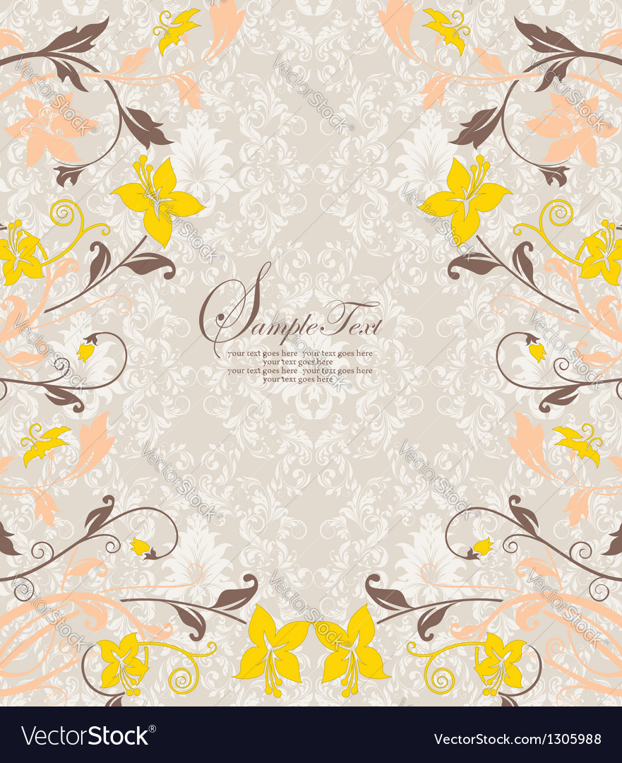 Damask card vector | Price: 1 Credit (USD $1)