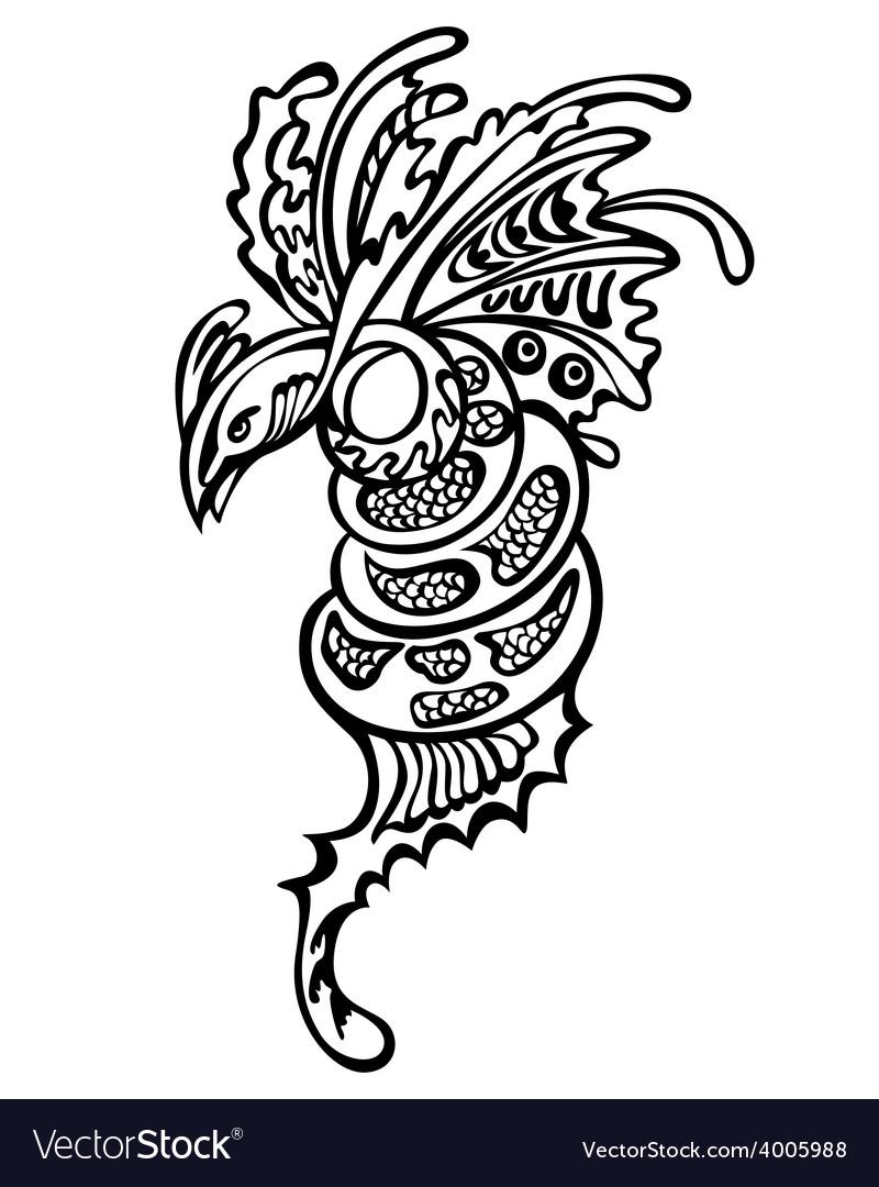 Fantasy dragon vector | Price: 1 Credit (USD $1)