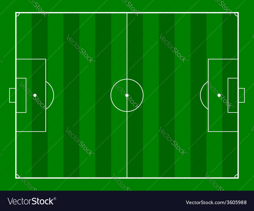 Footbal or soccer field background vector | Price: 1 Credit (USD $1)