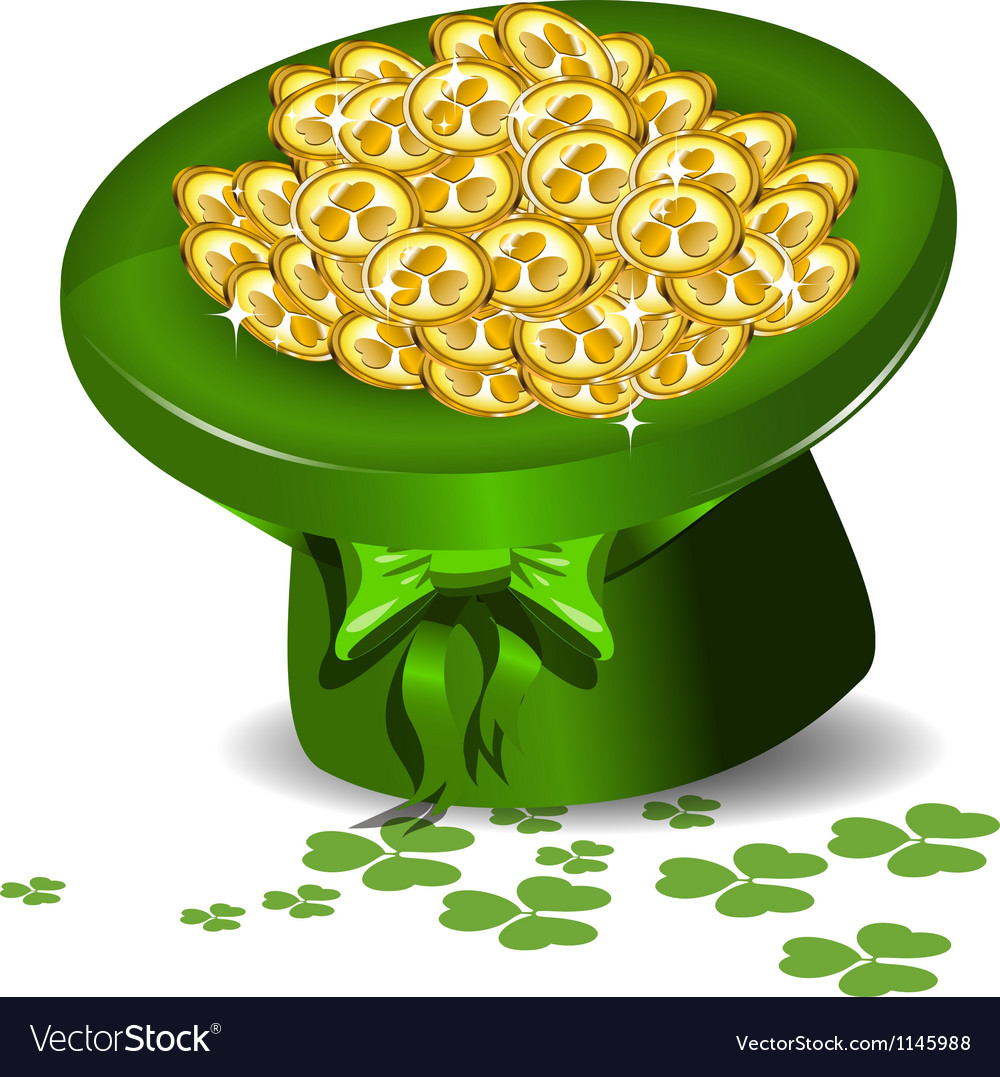 Green hat with money vector   Price: 1 Credit (USD $1)