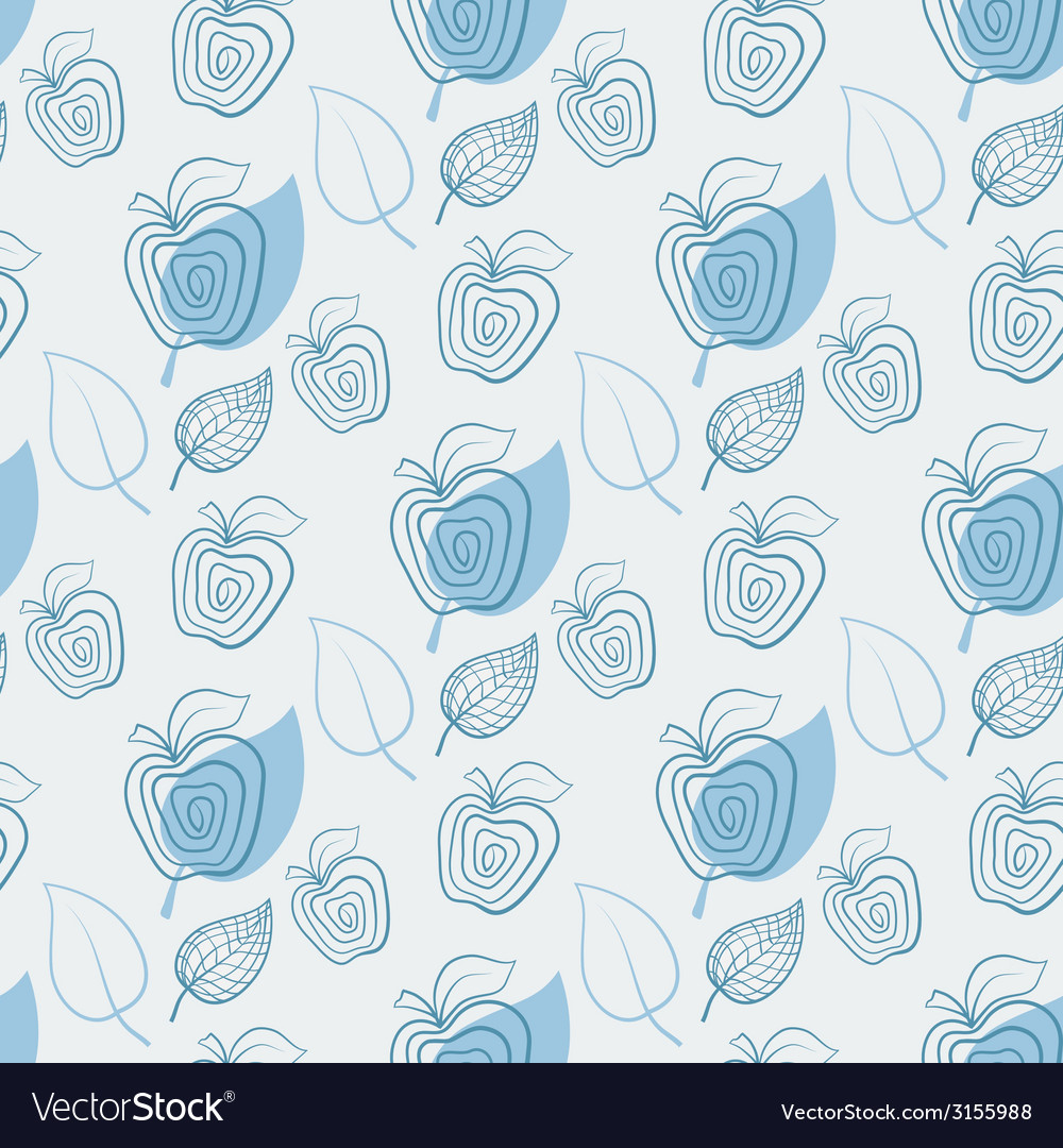 Seamless pattern with appleapplewhiteleaf vector | Price: 1 Credit (USD $1)